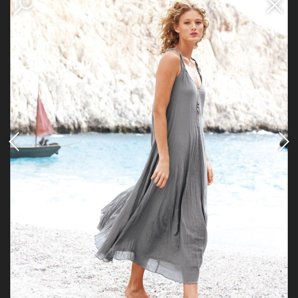 37d015f899 Garnet Hill Dresses | Size Xs Gray Gauze Lined Maxi Dress | Poshmark